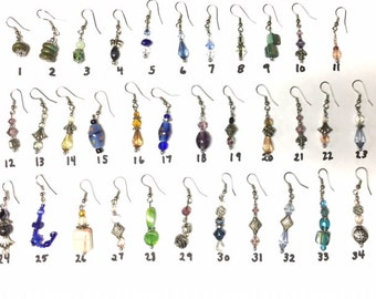 Sale! Earrings Priced to Sell! Choose your Favorite Pierced Earrings and Save! The more you buy the more you Save!  Free Shipping!