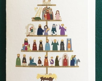 The Ancestry of Jesus Christmas card (5x7)