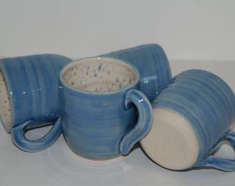 Handmade pottery cup set.