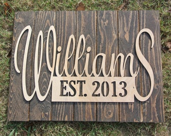 Personalized Name Sign, Wedding Decor, Personalized Wood Sign, Monogramed Sign, Wall Hanging, Personalized Wall Hanging, Wedding Gift,