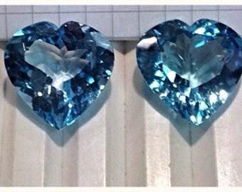 Wonderful pair of Topaz Blue London 20 x 20 mm