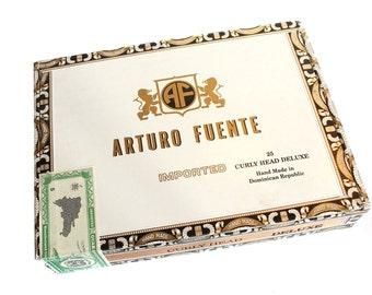 Wooden Cigar Box - Empty - For Crafting - Aurora Fuente