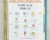 Kawaii Celebrate the Day Stickers - February 2017