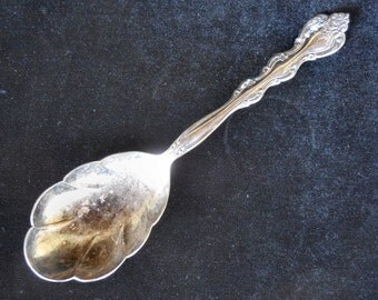International  Silver Scalloped Casserole Spoon in the Interlude pattern