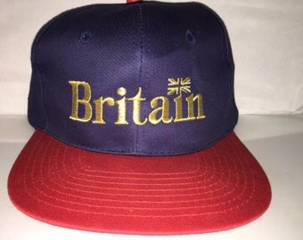 Vintage Great Britain UK england Snapback hat cap 90s deadstock hipster retro supreme
