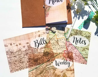 Acetate Travel Maps Planner Dashboards For TN's and Midori Travelers Notebook A116