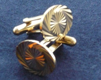 1960's Diamond Cut Oval Cufflinks