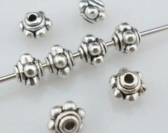 160/1400pcs Tibetan Silver Small Lantern-shaped Spacer Beads 4x5mm