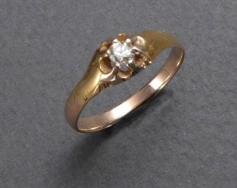14K .12pt diamond ring size 6.5