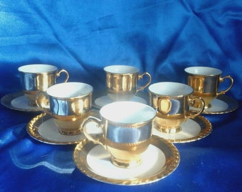 These are saved for Michaela (Art Deco 6 Gilded Cups & Saucers + 4 other items)