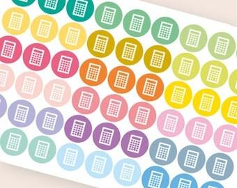 54 calculator stickers, student stickers, college sticker, planner stickers, school finance money eclp filofax happy planner kikkik