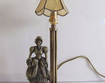 Antique Brass Lady Electric Lamp Brass Table Lamp