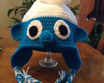 Smurf crochet hat