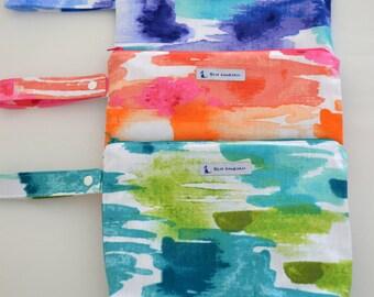 Large Wet bag, swim bag, nappy bag, waterproof PUL bag - Aquatic Aquamarine