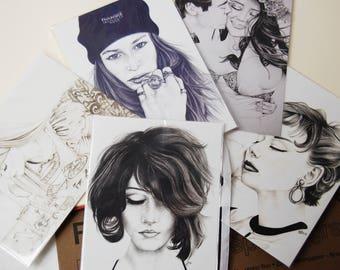 Pencil Drawings Postcard Pack