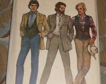 Vintage Butterick Pattern #6750 Men's Suits Size 44 Uncut & Unused