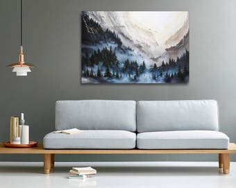 Skyrim landscape painting print