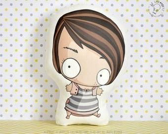 Custom Caricature Decorative Pillow