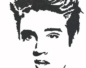 Elvis Presley hand-drawn drawing / painting