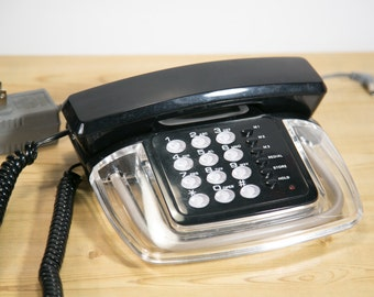 Retro Clear Phone - Very 1980's - Lights Up