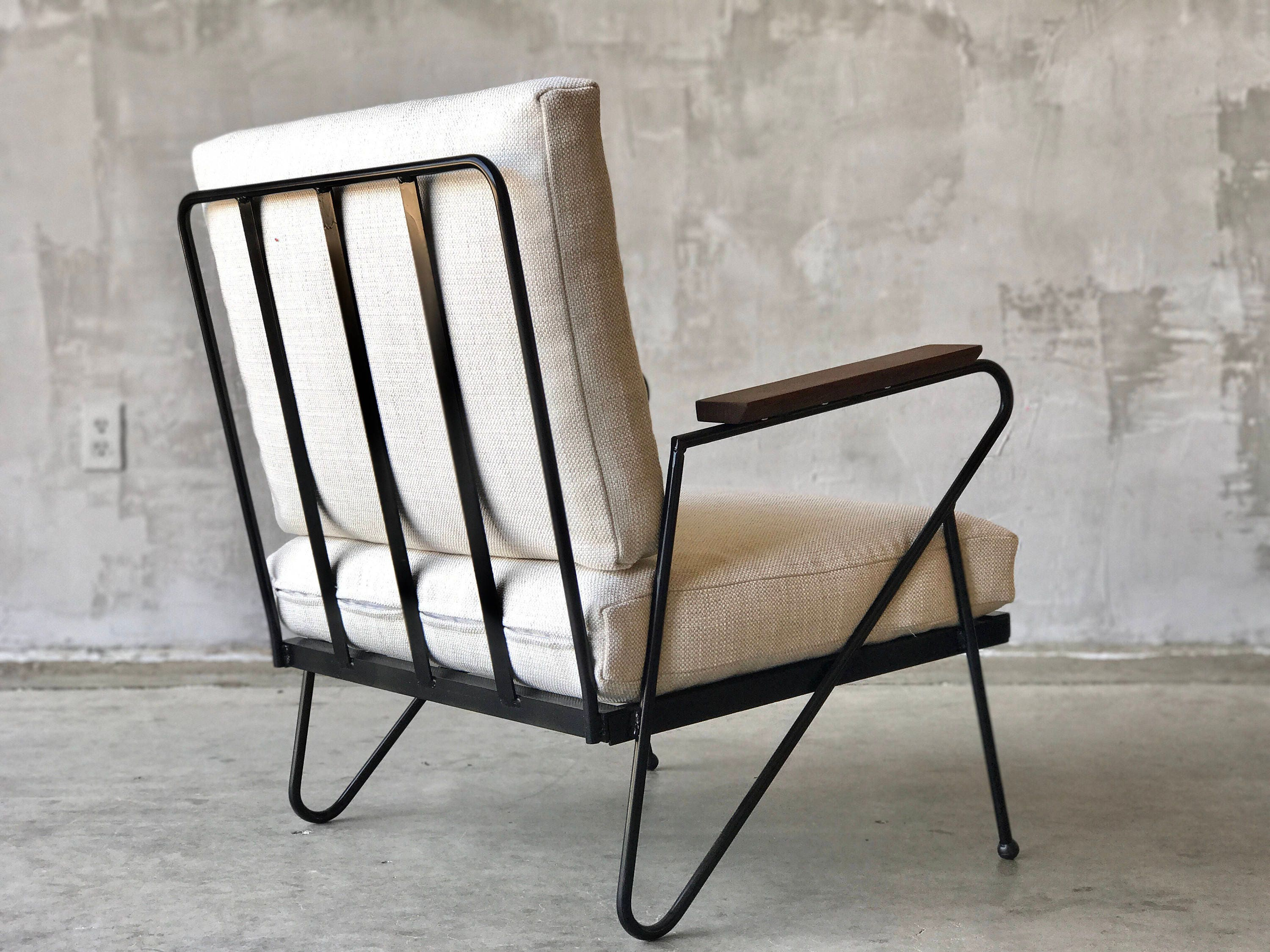 Mid Century style iron lounge chairs
