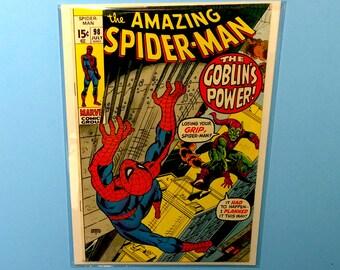 Amazing Spiderman #98 Comic Book, (Grade VF/NM) 1971, Marvel Comics Spider-Man, B4