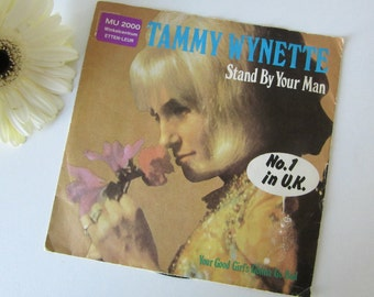 Vintage Vinyl Single Tammy Wynette, Stand By Your Man