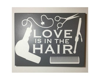 Painted Canvas Sign - hairstylist home decor - hairstylist gift - hairdresser - hair salon decor - hair stylist gift - beauty salon decor