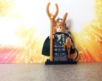 Loki Lego Inspired Keyring