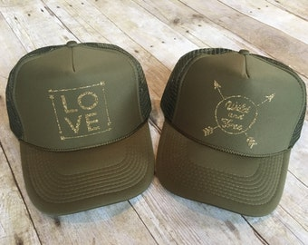 Women's Army Green Trucker Hat