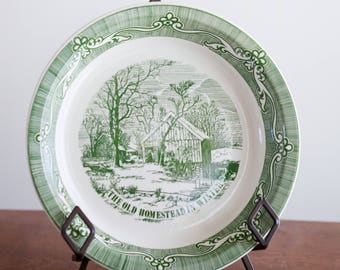 Currier & Ives Reproduction Homestead Plate