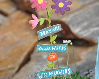 Wildflowers Sign for Miniature Garden, Fairy Garden
