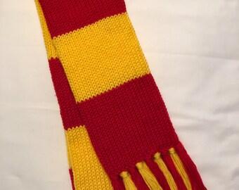 Gryffindor scarf, Premium Harry Potter scarf, Adult Gryffindor house scarf, Adult Harry Potter scarf, Adult Gryffindor scarf, Hogwarts scarf