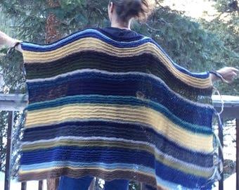 Knit Poncho Wrap