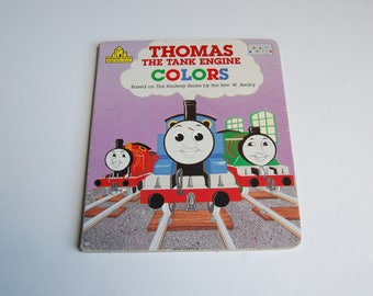Vintage 1991 Thomas the Tank Engine Colors Book