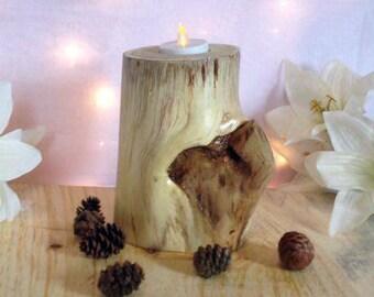 Rustic candle holder, Log candle holder, , Wood tealight holder, Wooden candle holder, Rustic decor, Rustic wedding decor