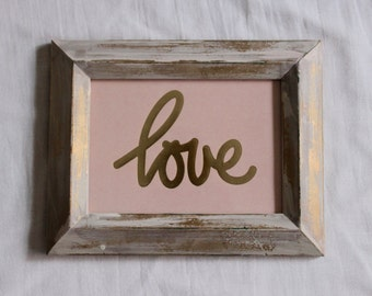 Hand-Painted Picture Frame with Print