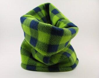 Checkered Dog Neck Warmer, Puppy Neck Warmer, Dog Neck Warmer, Big Dog Neck Warmer, Small Dog Neck Warmer, Bright Fleece Dog Neck Warmer