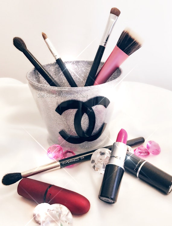 Makeup Brush Holder Glitter and Glam Designer Makeup Brush