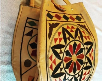 Lovely leather patcwork bag.