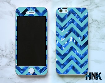 Iphone SE full skin / Iphone 5s decal / Iphone 5 decorative cover / blue case IS021