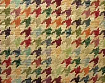 Tapestry Houndstooth Luxury Designer Fabric Ideal For Upholstery Curtains Cushions Throws