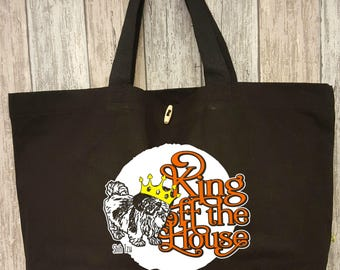 Shih Tzu, cotton bag XL black