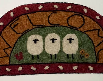 Welcome Sheep Rug Hooking Kit
