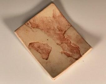 Flagstone imprint spoon/soap rest