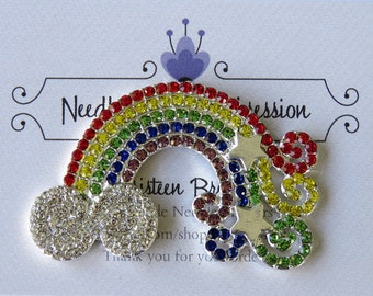 Rhinestone Rainbow with Stars Needle Minder