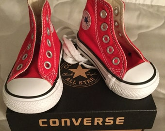 Infants Converse, All Stars, converse hi tops, children's converse trainers, red converse