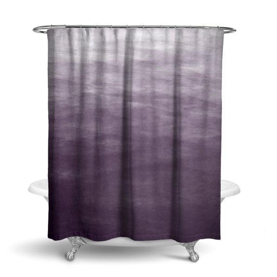 purple ombre watercolor shower curtain bath curtain