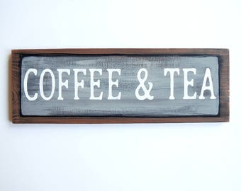 Coffee and Tea decor, Wedding coozies, Wedding decorations, Fiancé gift, Wedding signs wood, Rustic wooden wedding signs, Wedding programs