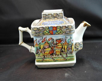Sadler Teapot King Arthur-Hero and Legend  # 2019293  8 by 3 1/2 by 5 3/4 Inches   01285